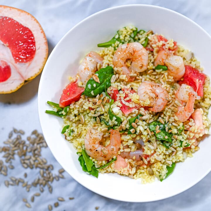 Prawn and Pink Grapefruit Bulgur Salad