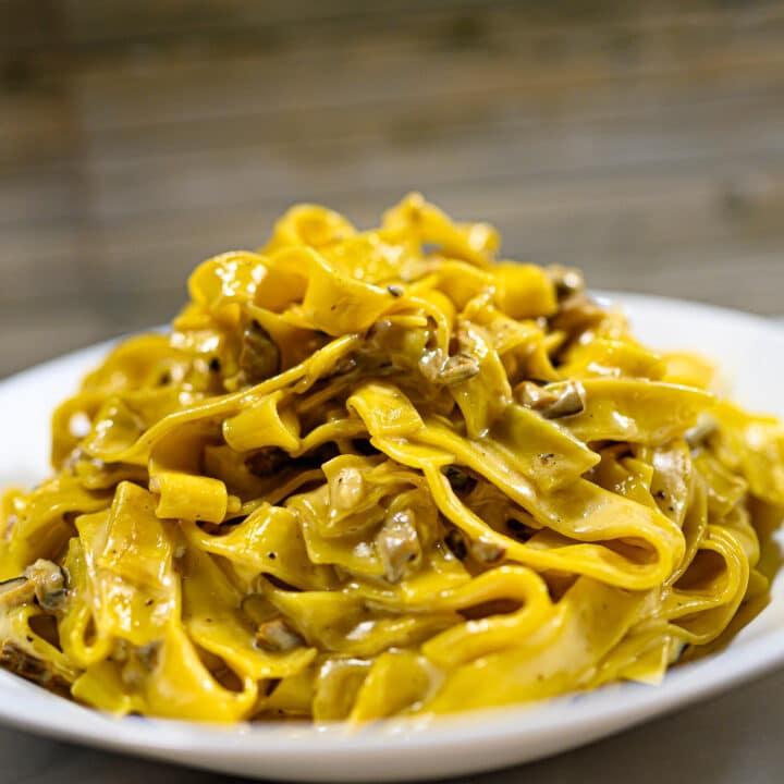 Tagliatelle ai Funghi Mushroom Pasta1