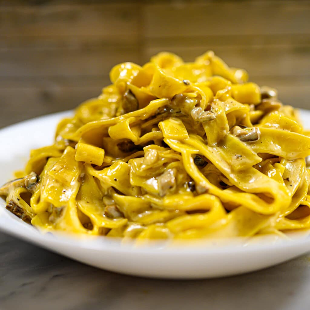Tagliatelle ai Funghi Mushroom Pasta3
