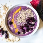 Blueberries Peanut Butter Oats Smoothie Bowl