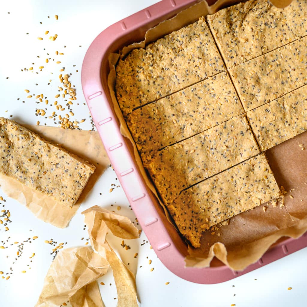 No Bake Peanut Butter Oatmeal Protein Bars {Vegan}