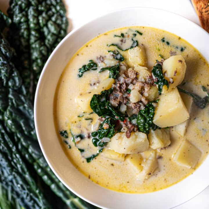 Creamy Zuppa Toscana with Haggis