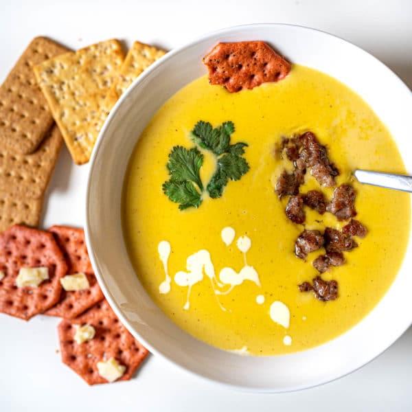 Potato Cheddar Soup with Italian Sausage
