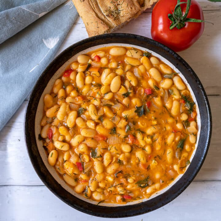 Easy Vegan Cannellini Beans Stew