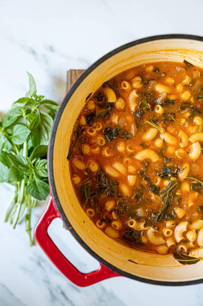 Chickpeas Pasta Stew