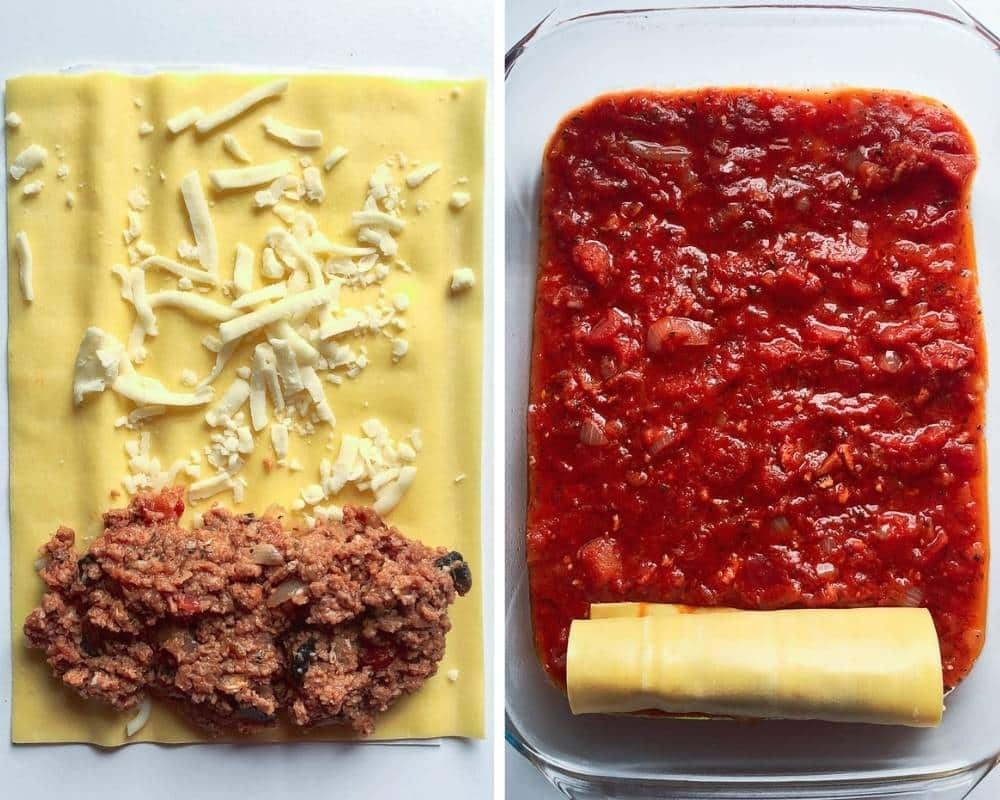 Assemble cannelloni step by step