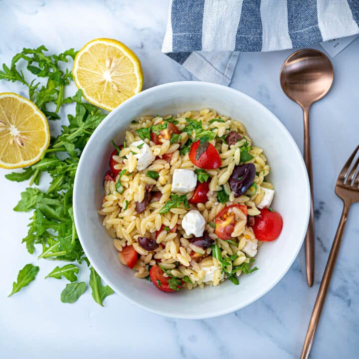 Orzo Pasta Salad with Feta