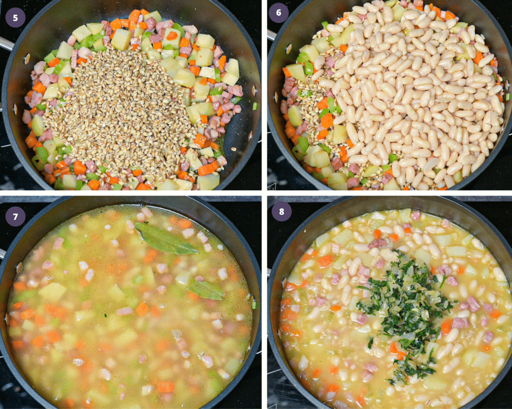 Step by step instructions to make minestrone