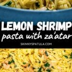 Pin of lemon prawn pasta wit za'atar recipe