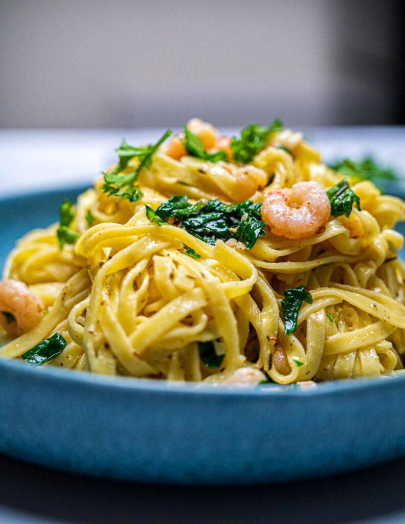 Close up of a pasta bowl