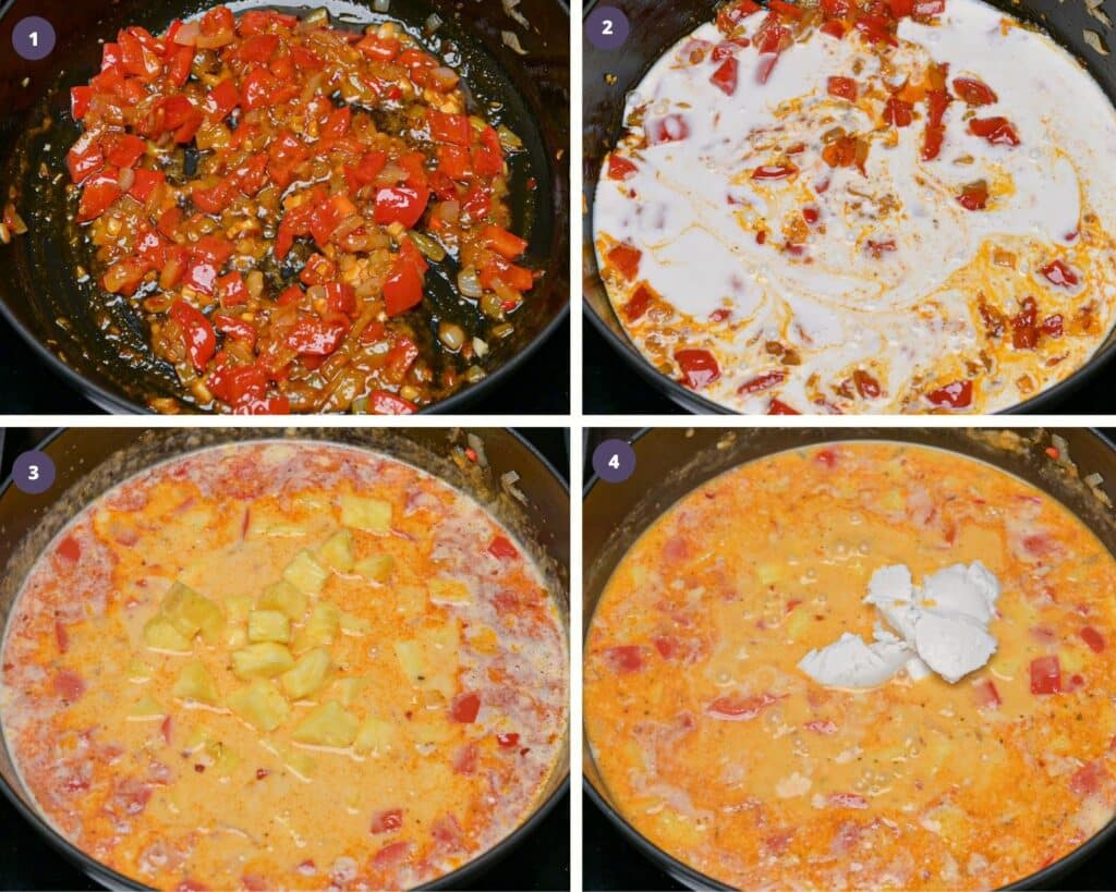 Step by step instructions to make pineapple curry