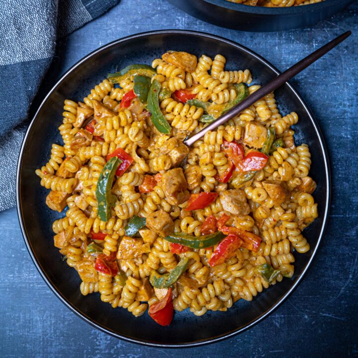 A bowl of Mexican chicken pasta