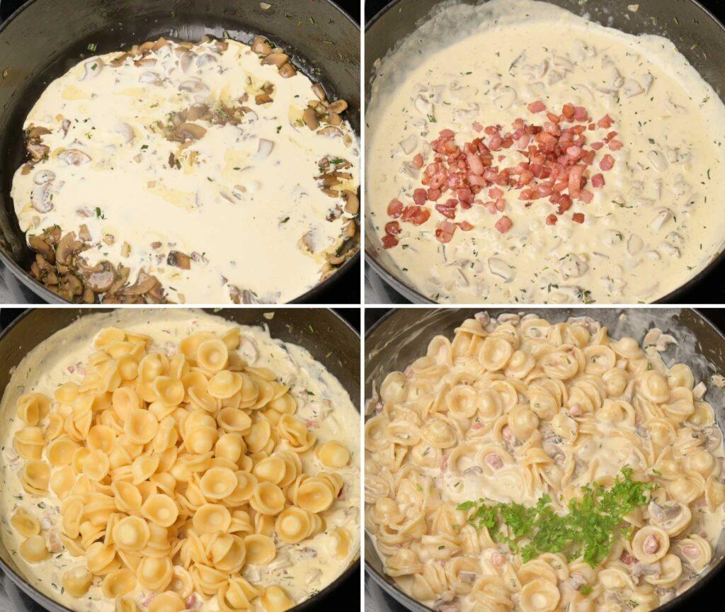 photo of pasta making process