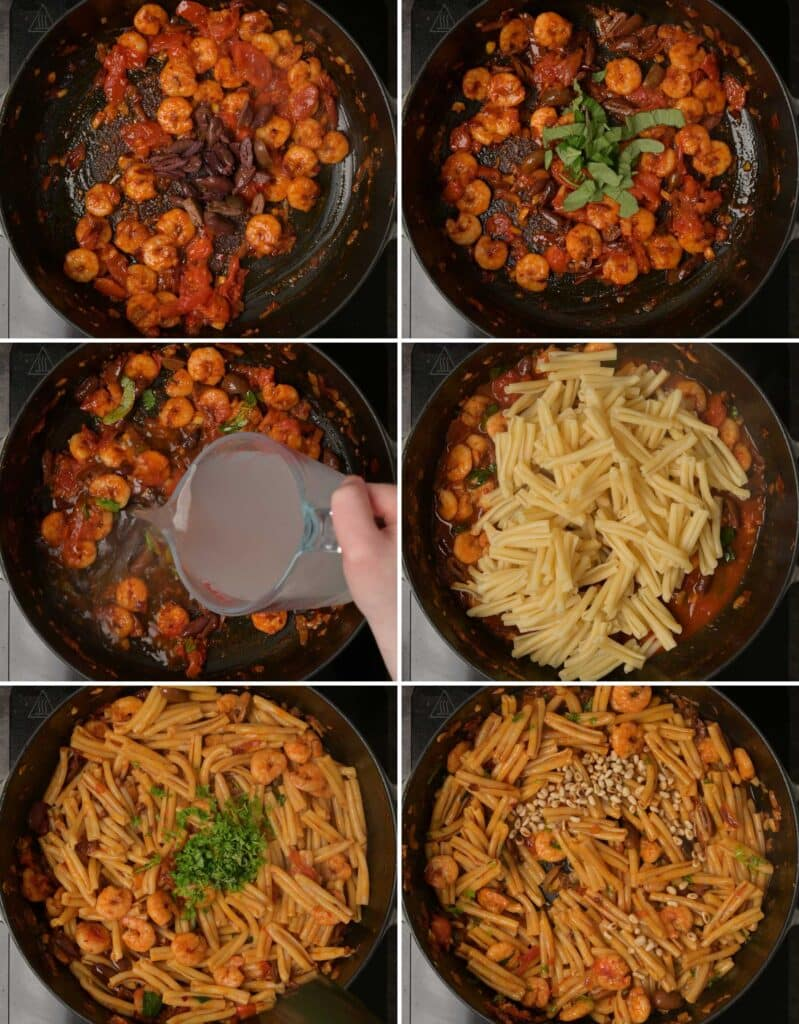 A photo of pasta making step by step instructions