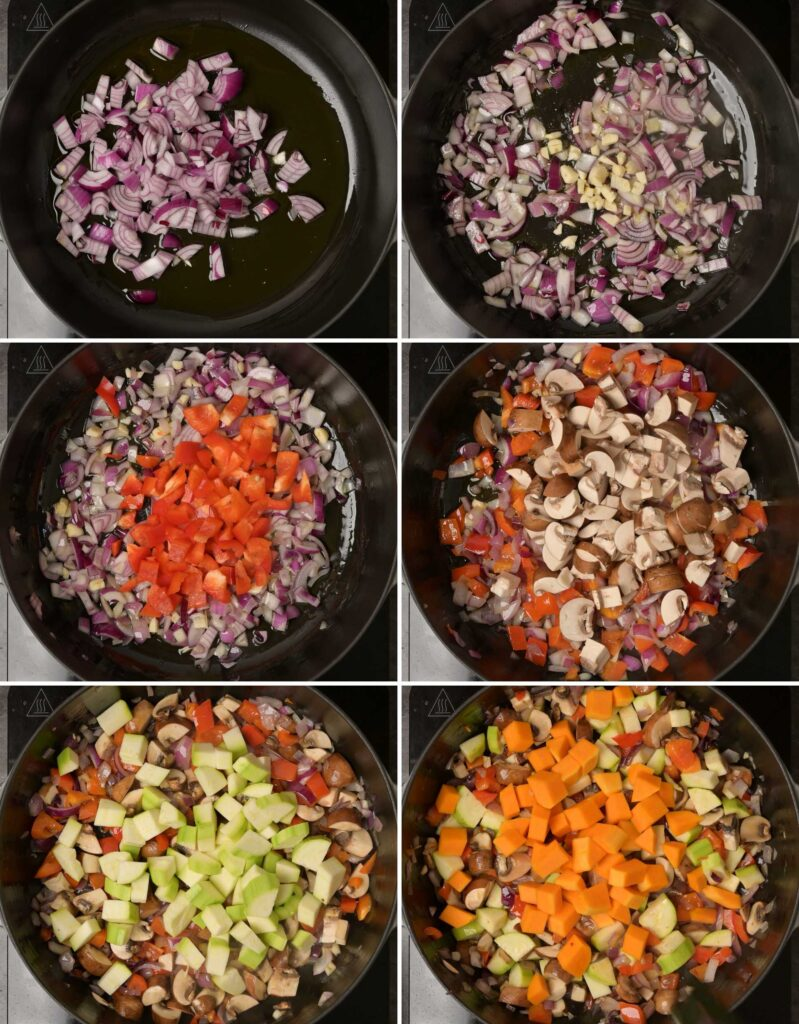 vegetarian recipe step by step instructions