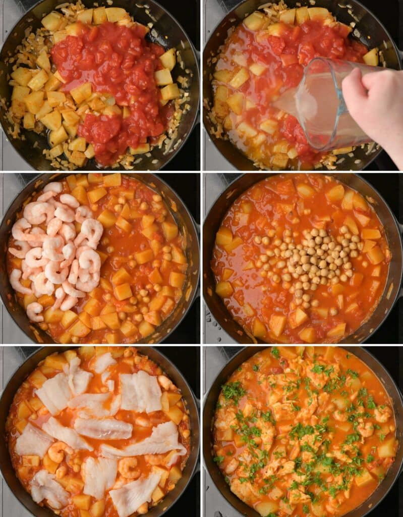 image of stew making process steps