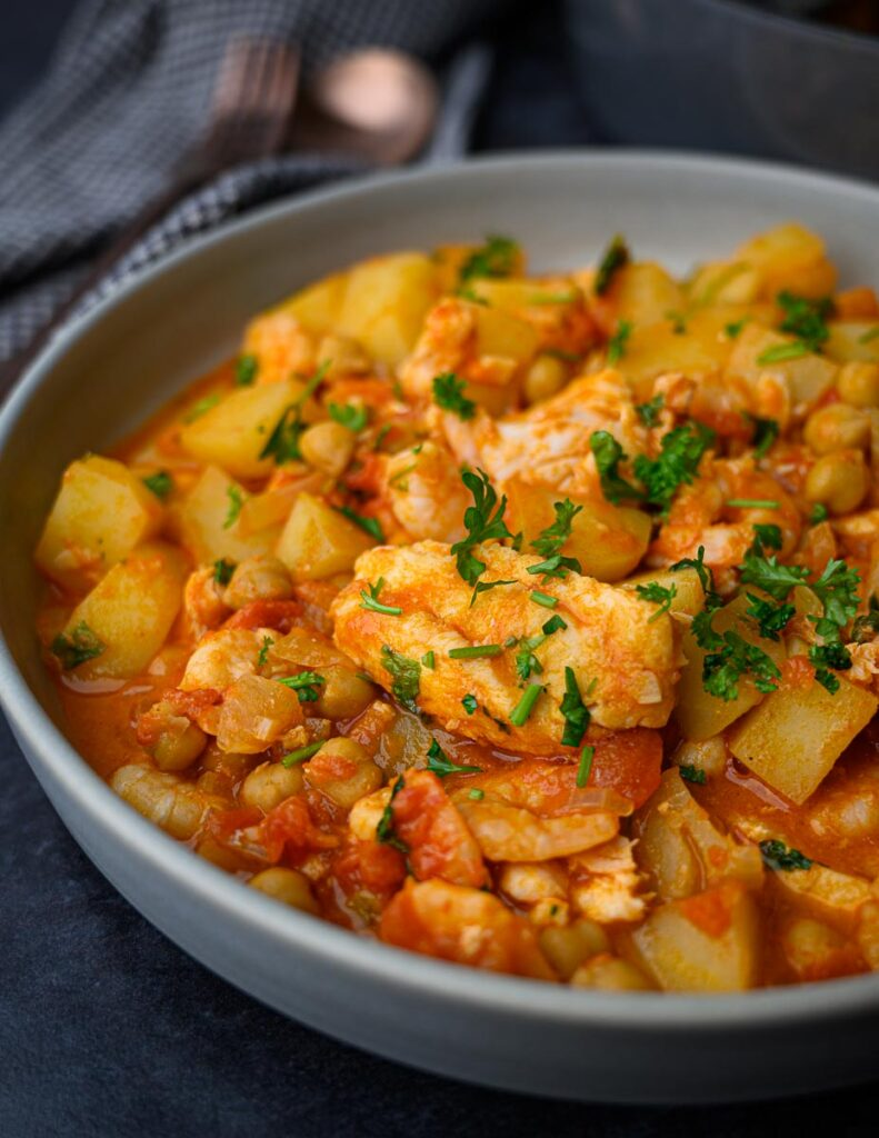 image of a Spanish fish stew