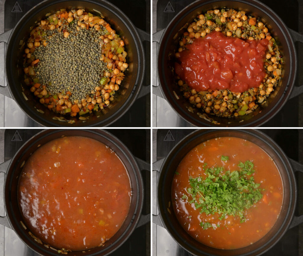 Moroccan soup making step by step instructions
