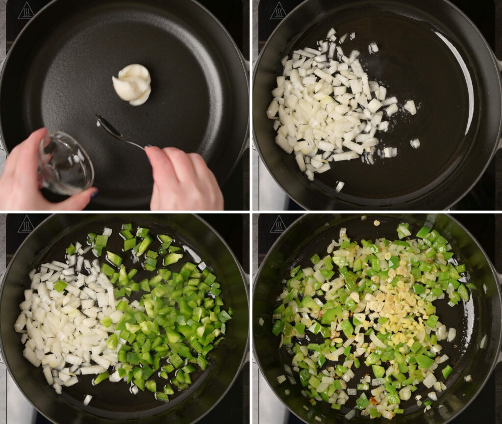 Step by Step photo carousel for making rendang curry