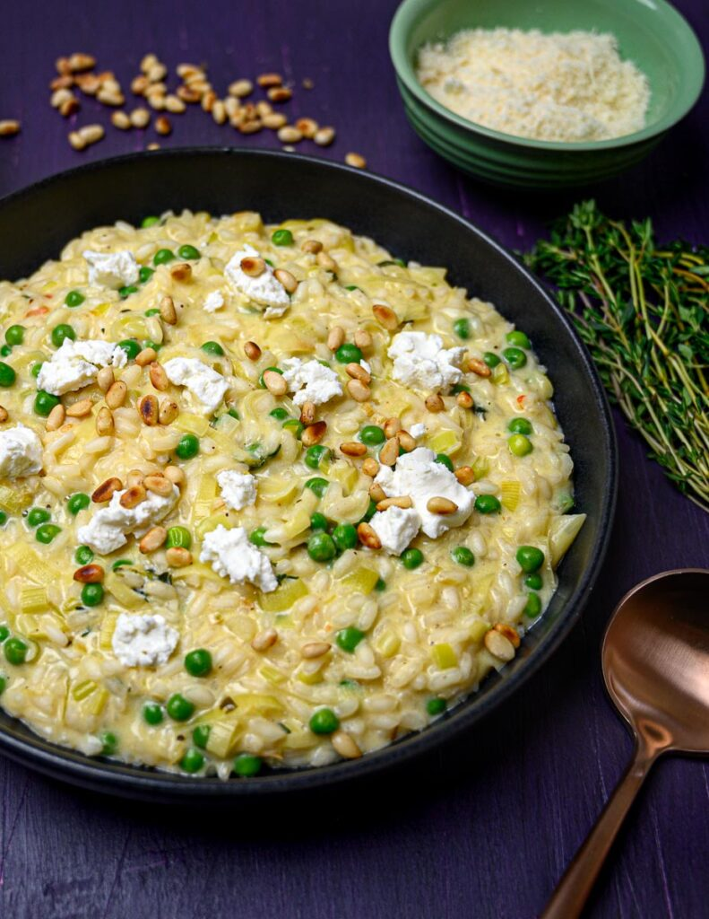 image of a goat's cheese risotto
