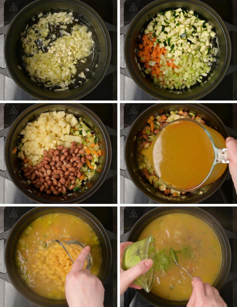 Italian dish cooking steps