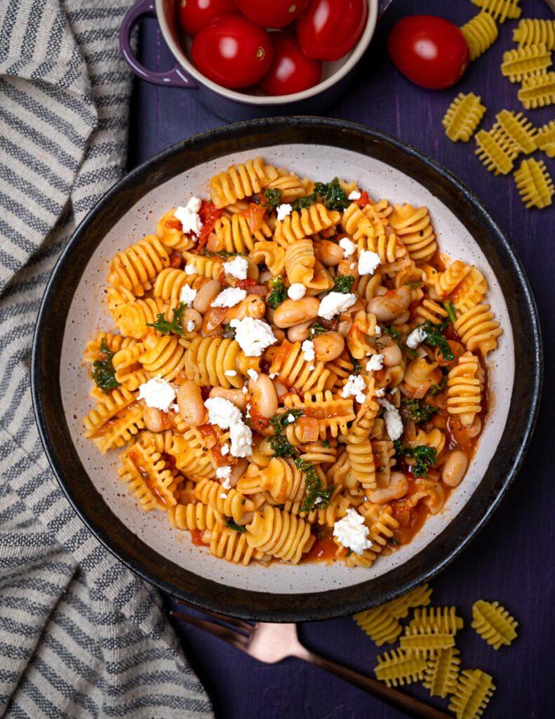 photo of Italian radiatori pasta with cheese