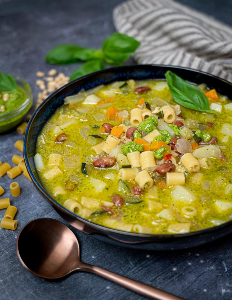 a bowl of minestrone