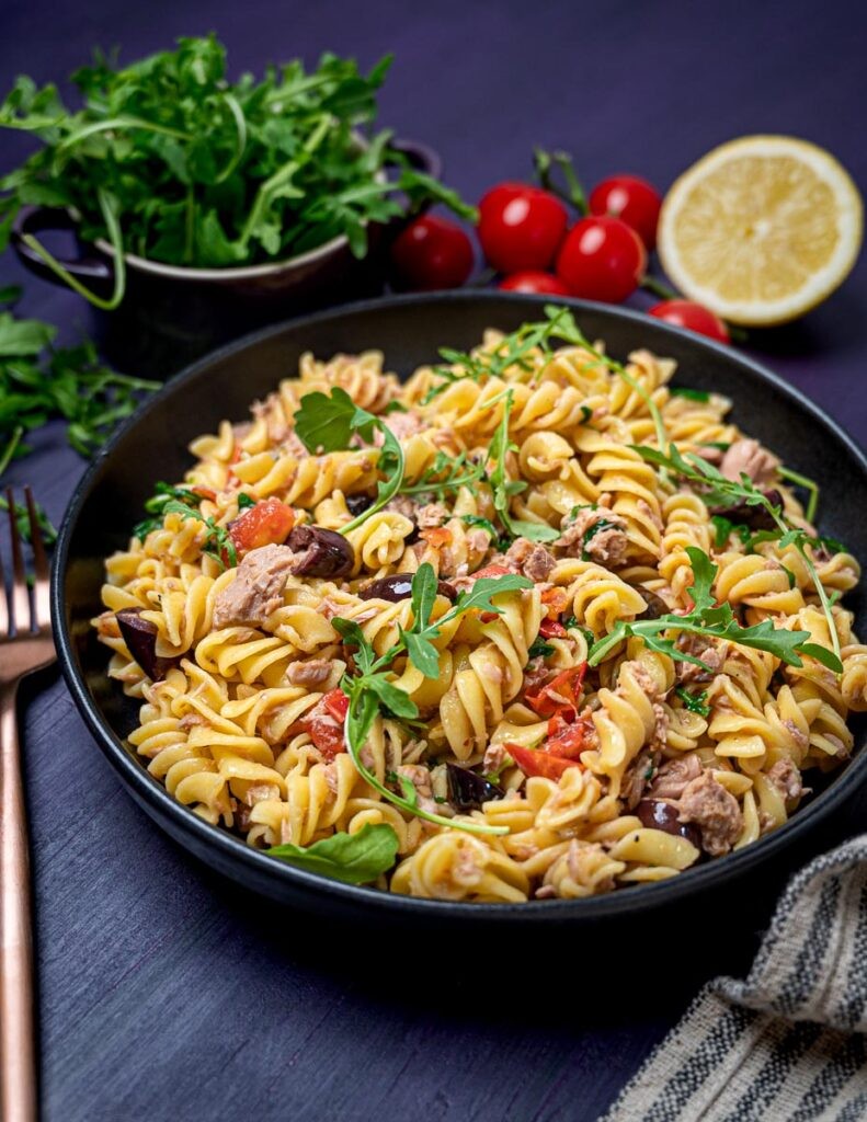 A photo of a bowl pf pasta