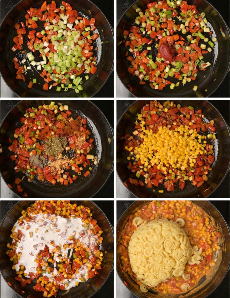 Step by step instructions for making vegan pasta