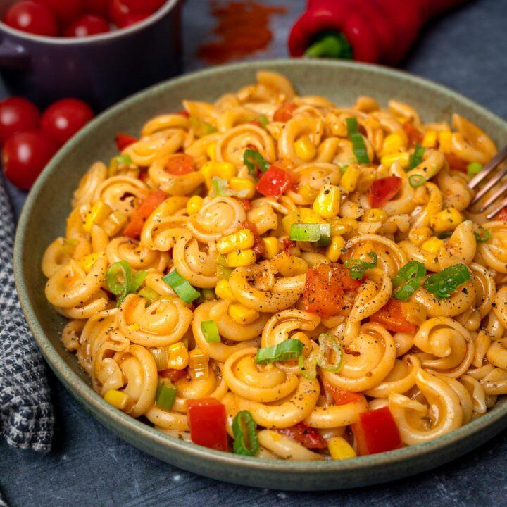 image of a vegan cajun pasta