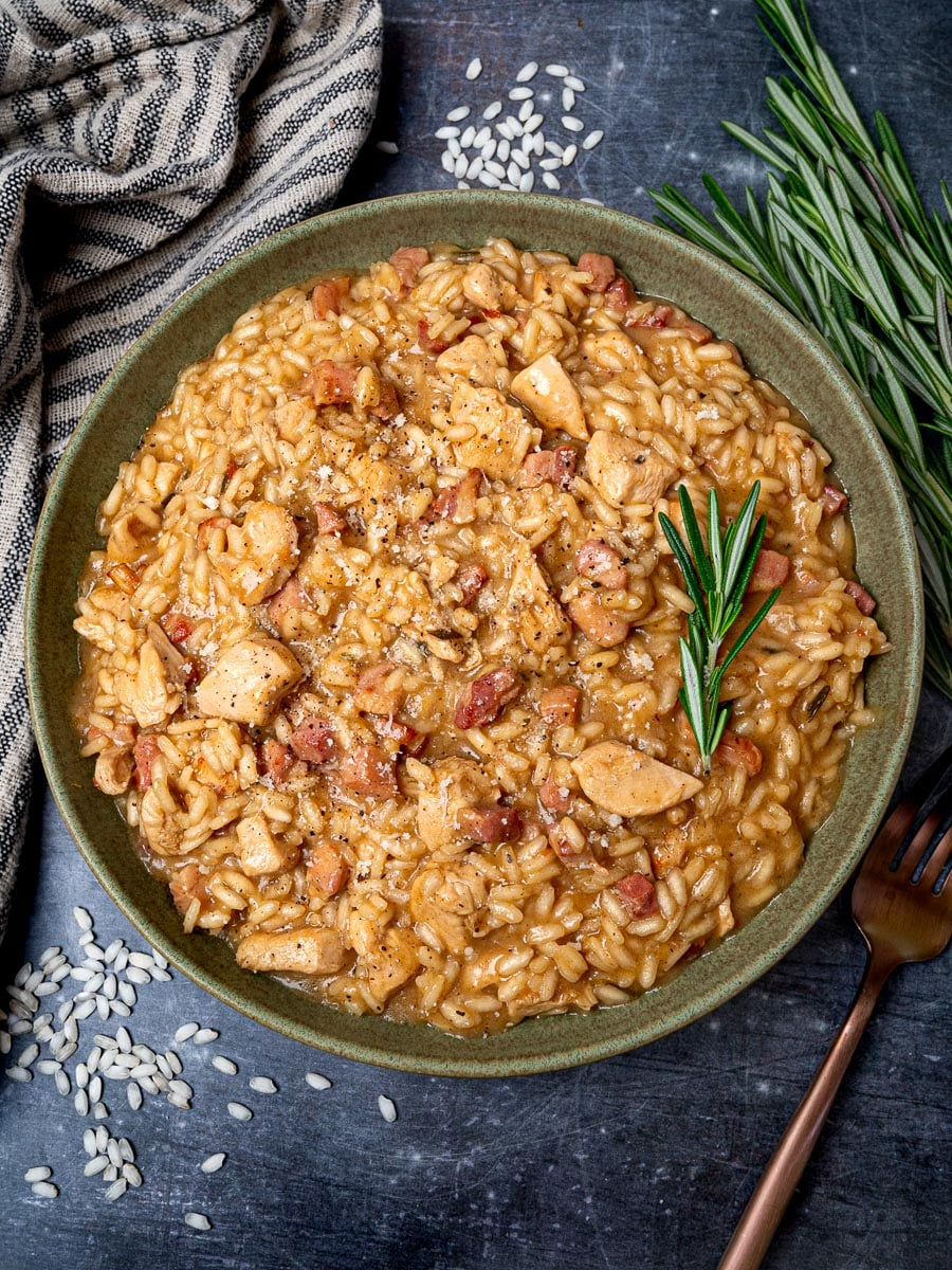 Mediterranean dish with rosemary