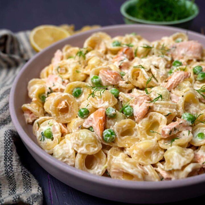 hot smoked salmon pasta