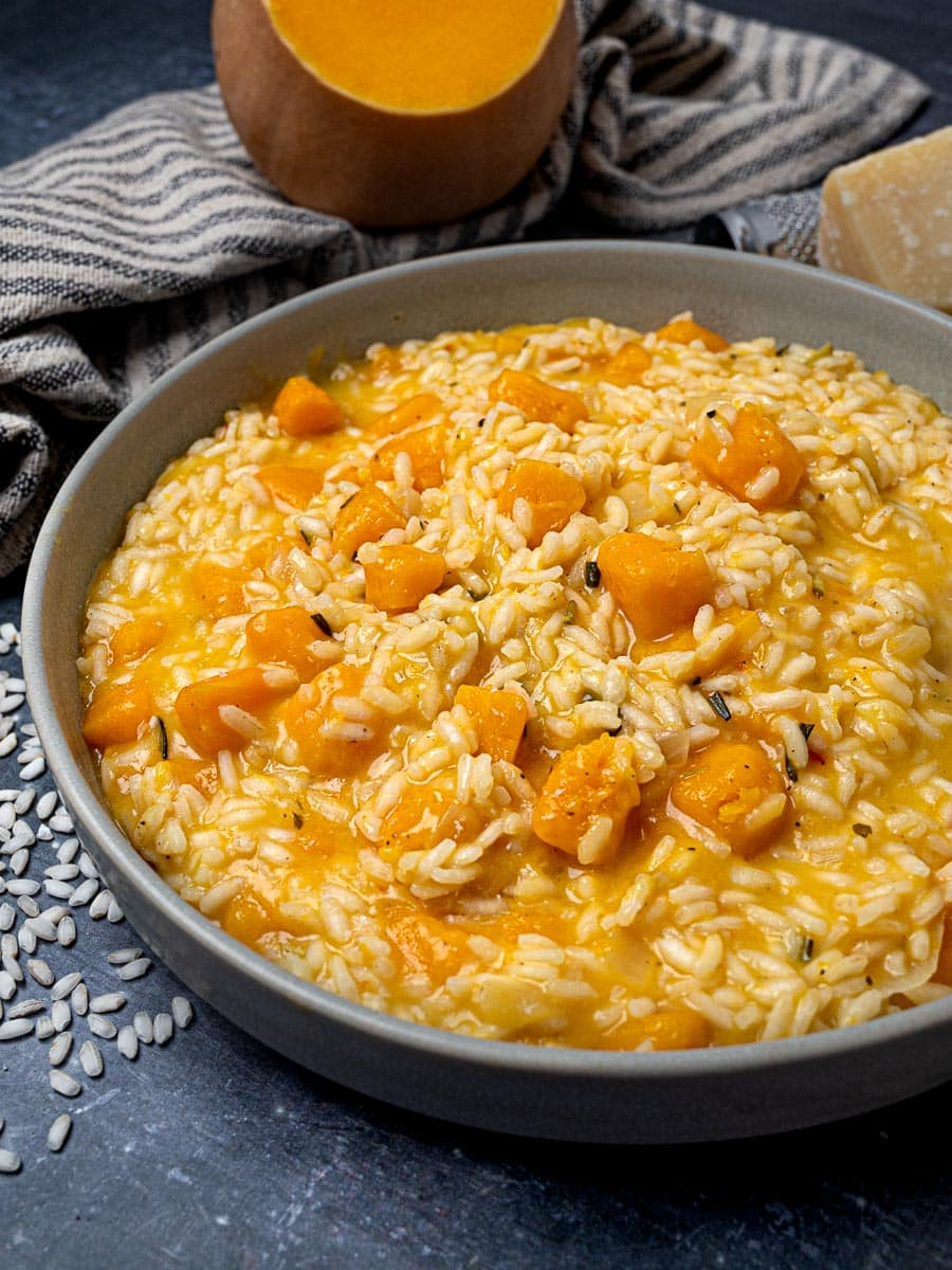 A bowl of vegetarian risotto